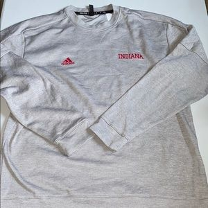Men's gray Adidas Indiana pullover